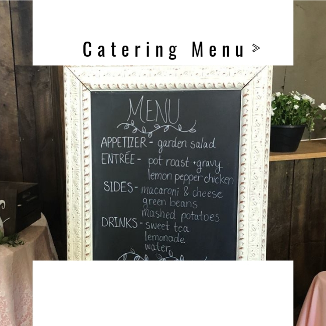 catering menu and prices