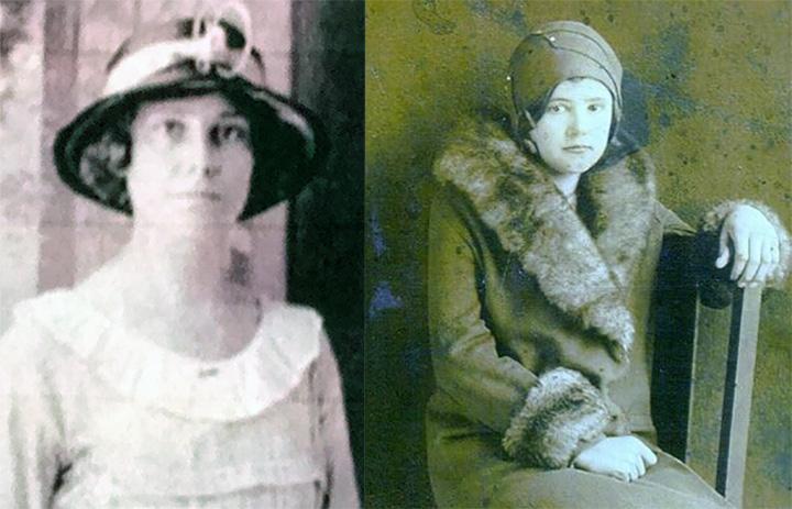 grandmothers Hessie Bare and Dovie Bowlin